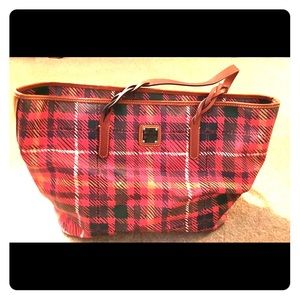 Dooney & Bourke Red Plaid Tote
